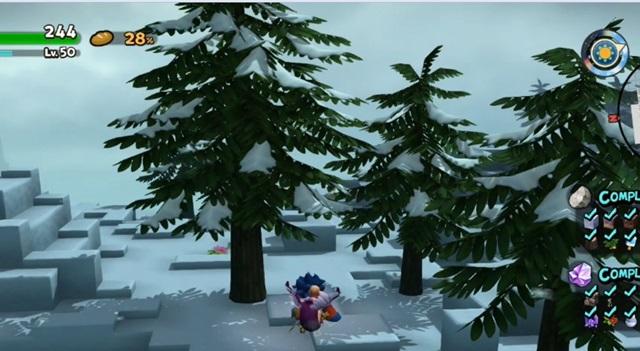 雪のスギ大木