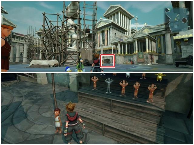 銀や銅のヘラクレス像をたくさん飾っている場所