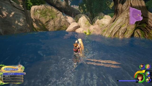 ラプンツェルに水をかける