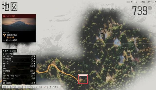 パイオニア墓地周辺のマップ