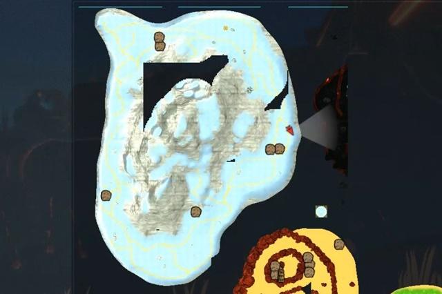 雪原地帯のマップ