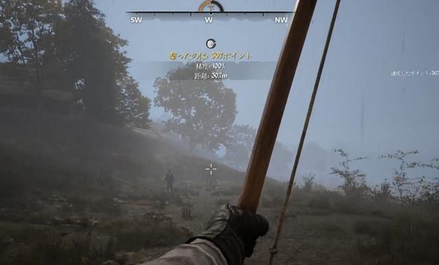 弓矢を射る