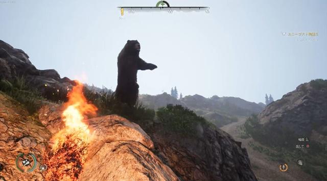 クマが立ち上がる