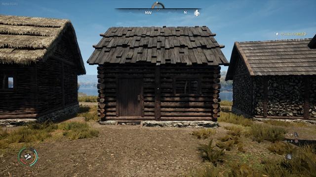 木製の壁+木製の屋根の家